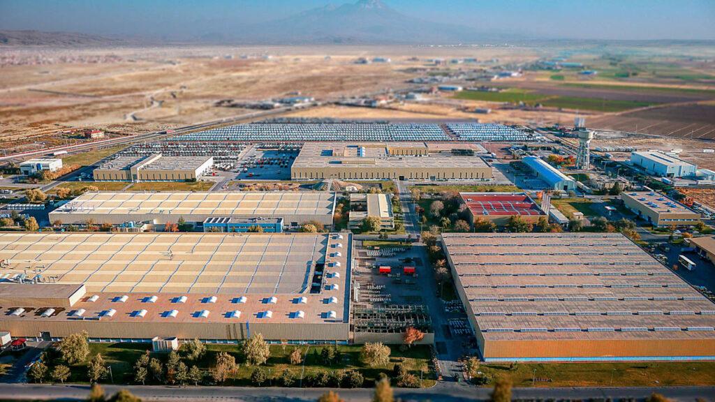 Mercedes Kamyon Fabrikası Drone Çekimi - 13