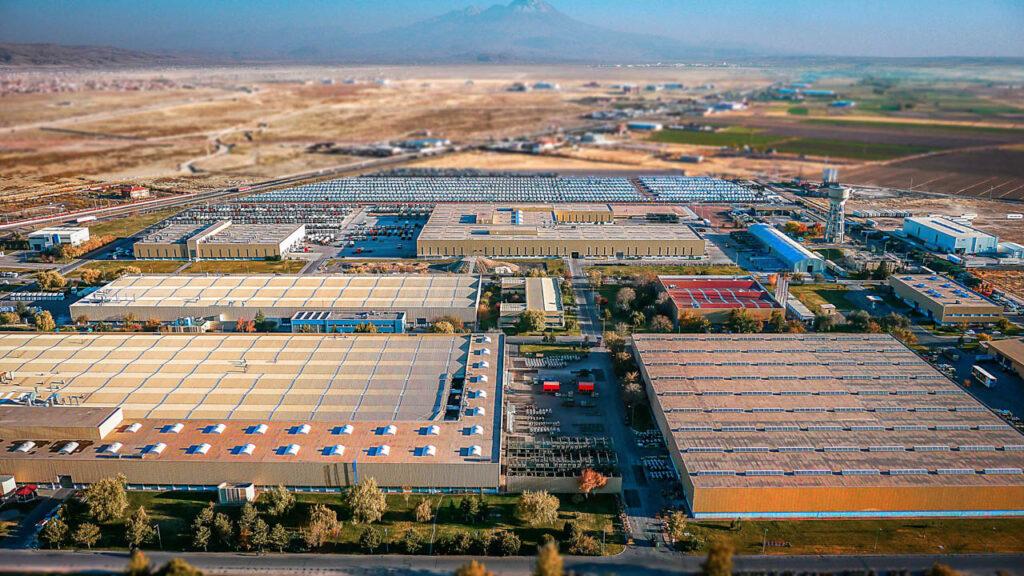 Mercedes Kamyon Fabrikası Drone Çekimi - 14
